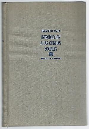 INTRODUCCIÓN A LAS CIENCIAS SOCIALES: Francisco Ayala