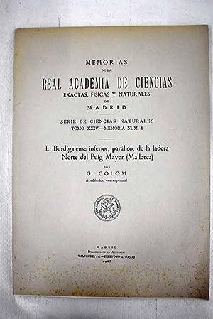 El burdigalense inferior, parálico, de la ladera: Colom, Guillermo