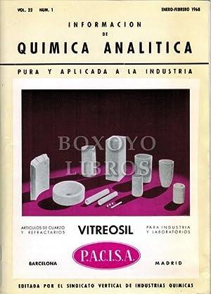 Información de Química Analítica pura y aplicada