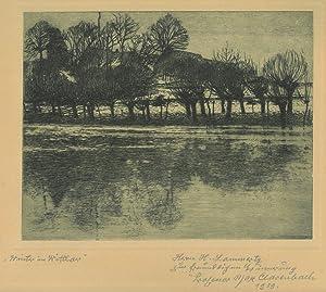 "MAX CLARENBACH (1880 - 1952). ""Winter in"