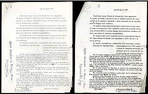 Lettera di Peppino de Filippo e Nico: Peppino de Filippo