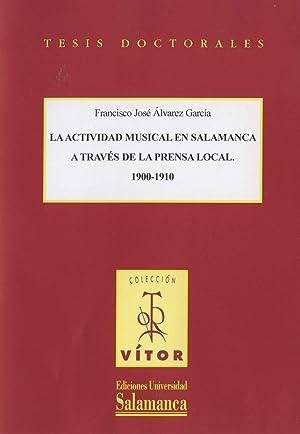 La actividad musical en Salamanca a través: Álvarez García, Francisco