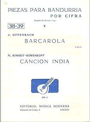 PIEZAS PARA BANDURRIA POR CIFRA Nª 38-39: J. Offenbach /