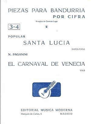PIEZAS PARA BANDURRIA POR CIFRA nº 3-4: Popular / N.