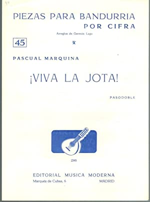 PIEZAS PARA BANDURRIA POR CIFRA Nº 45: Pascual Marquina