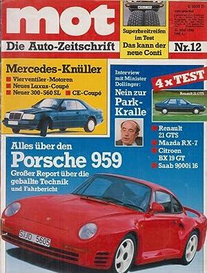 mot Die Autozeitschrift Nr. 12- Mercedes- Vierventiler-: ohne Autor
