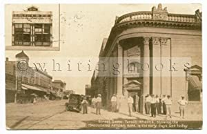 Real Photo Post Card [RPPC] Tucson Arizona 1914 Street Scene Featuring the Consolidated National ...