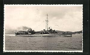 Carte postale Torpedoboot Mousqueton in voller Fahrt