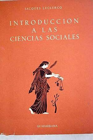 Introducción a las ciencias sociales: Leclercq, Jacques