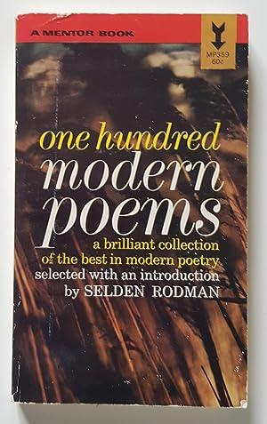 one hundred modern poems: Rodman, Selden (ed.)
