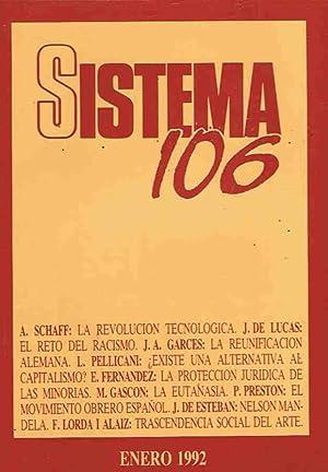 SISTEMA. Revista de Ciencias Sociales. Nº 106,: Díaz. Elías, (director)