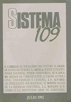 SISTEMA. Revista de Ciencias Sociales. Nº 109: Díaz. Elías, (director)
