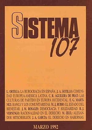 SISTEMA. Revista de Ciencias Sociales. Nº 107: Díaz. Elías, (director)