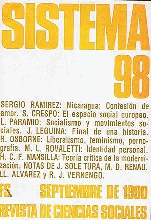 SISTEMA. Revista de Ciencias Sociales. Nº 98,: Díaz. Elías, (director)