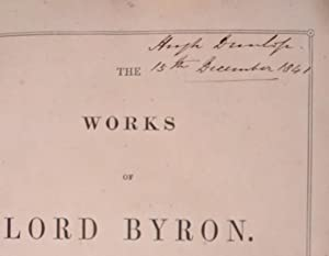 The works of Lord Byron complete in one volume>>BOWDLERIZED HISTORICAL ASSOCIATION COPY<<