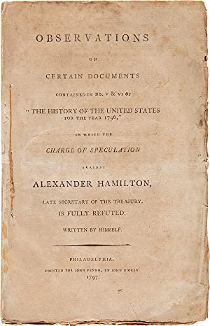 "OBSERVATIONS ON CERTAIN DOCUMENTS CONTAINED IN No. V & VI OF ""THE HISTORY OF THE UNITED STATES FO..."
