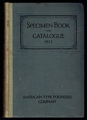 Specimen book and catalogue
