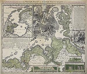 """Kst.- Karte, b. J. B. Homann, """"Geographische: Nordseeküste:"""