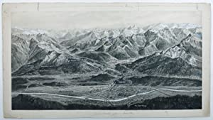 Collection of 13 monochromatic panoramic views of the Tyrolean Alps.