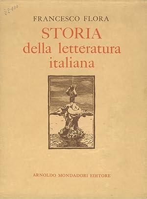 Storia della letteratura italiana. Nuova edizione riveduta: FLORA Francesco.