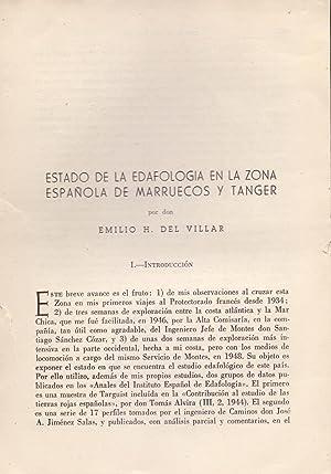 ESTADO DE LA EDAFOLOGIA EN LA ZONA: Emilio H. del
