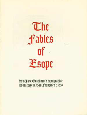The Fables of Esope from Jane Grabhorn's: Aesop. William. Caxton