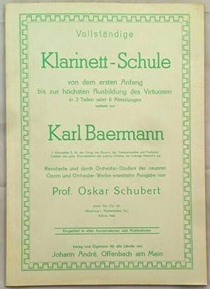 Baermann Klarinetten Schule Erster Zvab