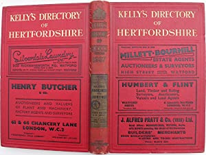Kelly?s Directory of Hertfordshire with coloured map. 1937.