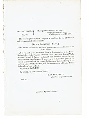 JOINT RESOLUTION TO AID IN RELIEVING FROM: Grant, Ulysses S.).