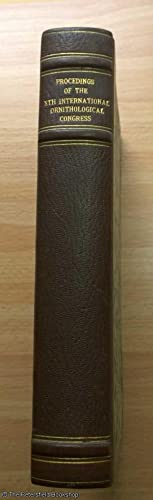 Proceedings of the Xth International Ornithological Congrss, Uppsala - June 1950