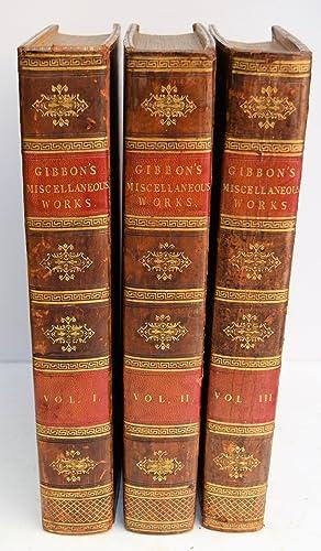 MISCELLANEOUS WORKS OF EDWARD GIBBON, ESQUIRE. WITH: GIBBON, EDWARD. SHEFFIELD,