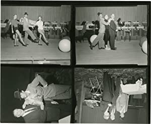 Dean Martin in Las Vegas, 1959 (Original contact sheet with four images)