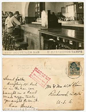 Real Photo Post Card [RPPC] New Moctezuma Bar Matamoros Tamaulipas Mexico Circa 1940s