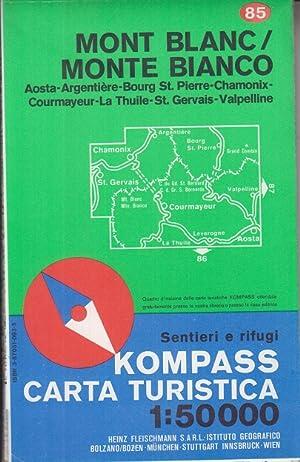 Imagen del vendedor de Monte Bianco : con guida, itinerari sci alpinismo = Mont Blanc. Kompass-Wanderkarte ; 85 a la venta por Allgäuer Online Antiquariat
