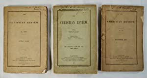 Lot 3 Christian Review Magazines December 1840; June 1842; January 1857