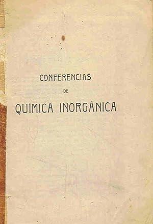 CONFERENCIAS DE QUÍMICA INORGÁNICA: AA.VV