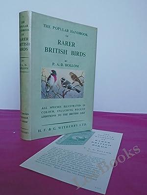 THE POPULAR HANDBOOK OF RARER BRITISH BIRDS: Hollom, P. A.