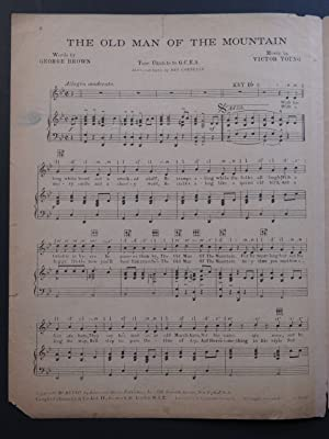 YOUNG Victor The Old Man of the Mountain Chant Piano 1932: YOUNG Victor The Old Man of the Mountain...