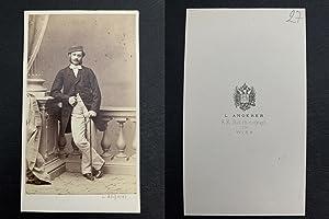 Angerer, Wien, Graf Albrecht von Wickenburg, écrivain: Photographie originale /