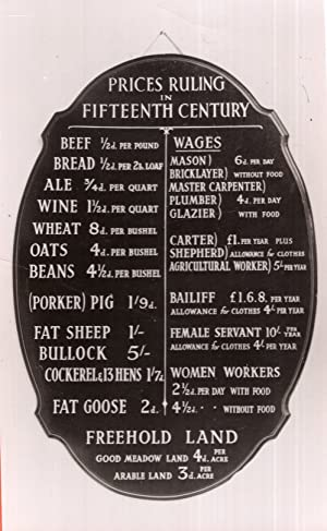 Pub Prices Medieval 15th Century Beer Blackboard