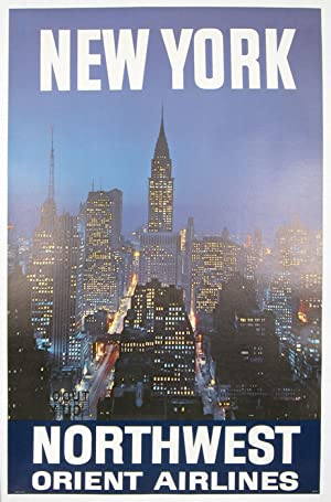 New York. Northwest Orient Airlines.