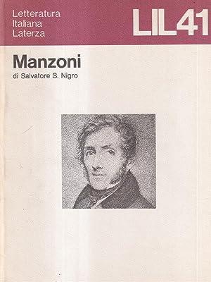 Manzoni: Nigro, Salvatore S