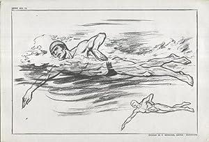 Imagen del vendedor de Lamina Emilio Freixas numerada 14: natacion a la venta por EL BOLETIN