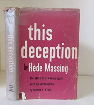 Seller image for This Deception. The story of a woman agent for sale by BRIMSTONES