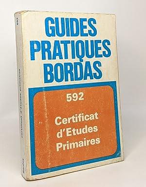GUIDE PRATIQUE DU CERTIFICAT D'ETUDES PRIMAIRES: MICHEL C. HUBERT