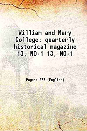 William and Mary College quarterly historical magazine: Anonymous