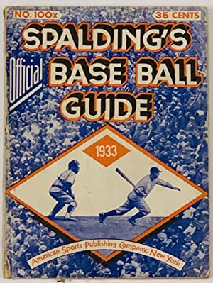 SPALDING'S OFFICIAL BASE BALL GUIDE. Fifty-seventh Year.: Baseball Literature]. Foster,