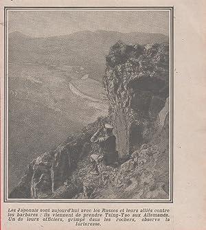 Immagine del venditore per IWW. Un ufficiale giapponese osserva la fortezza di Tsing Tao (Cina). 1915 venduto da libreria biblos