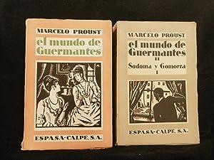 EL MUNDO DE GUERMANTES. Tomos I y: PROUST, MARCEL.