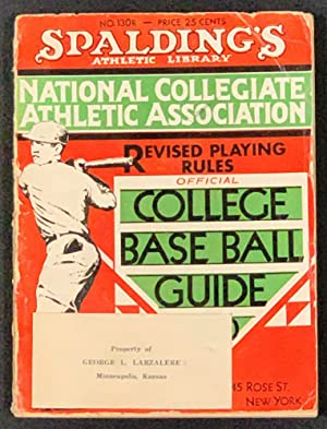 COLLEGE BASE BALL GUIDE. Containing Official Rules: Baseball Literature]. Foster,